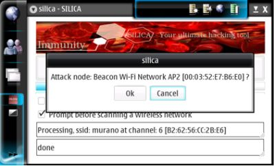 Silica Hacking wireless network