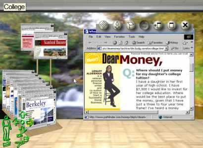 Microsoft Research team had begun to write a novel 3D windows manager in 1999, which they called it Task Gallery.
