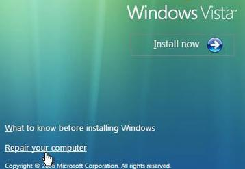 Crack Windows Vista logon account password in minute with the Windows Vista installation DVD. Click on the Repair Your Computer option, bring up Command Prompt to open Local Users and Groups management in MMC.