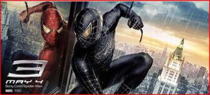 Spiderman 3 poster - the genuie red spiderman vs the evil black spiderman