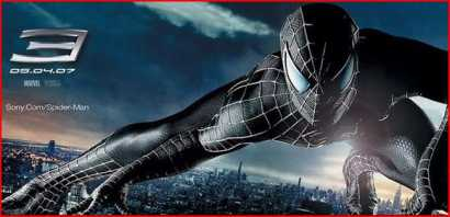 Spiderman 3 poster - the only black evil spiderman