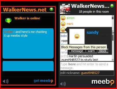 Meebo Me vs Meebo Room. Meebo Room is an extension of Meebo Me IM widget, which allow many-to-many chatting over virtual forum or room and it does not require anyone to sign in and chat!