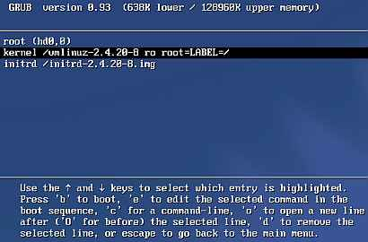 A visual step-by-step Linux guide to reset forgotten root password.
