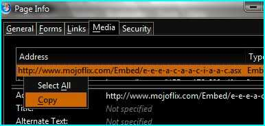 How to retrieve video that embedded inside an ASX file in Firefox?