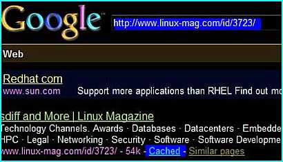 Read the Google Cache version of Linux Magazine article without register and login as member.