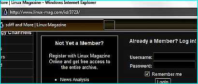 How to read Linux Magazine articles without membership login?