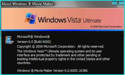 Windows Vista Movie Maker 2.6 require highend video graphic card that can renders Windows Aero interface.