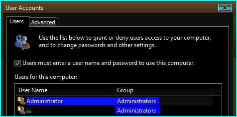 Windows Vista ultimate, built-in Administrator account.