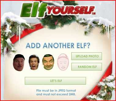 Elf Yourself seasonal greeting to cheer friend!