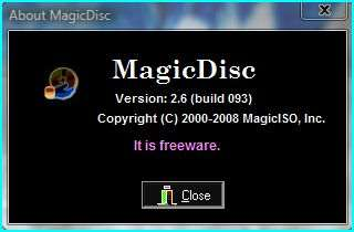 MagicDisc is a truly freeware version of CD/DVD-ROM emulator and supports a number of common CD im