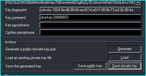 Click Save Private Key button to save the Putty-generated private key.