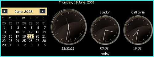 Windows Vista supports multiple clocks display.