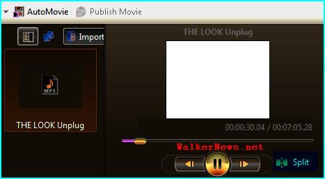 Using Windows Movie Maker to split/cut or extract music tune for mobile phone ringtone.