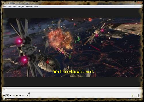 Windows Movie Maker published Star War movie footage with a perfect screen resolution, without the annoying half green stripe problem.