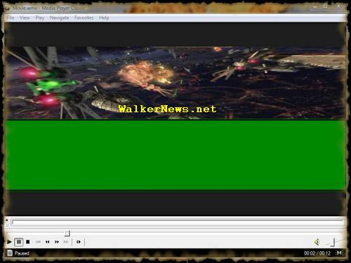 Windows Movie Maker published half green bar movie problem.