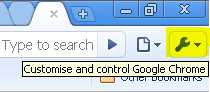 How to configure Google Chrome default web search engine?