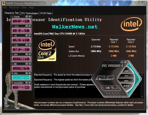 When CPU temperature is high, the processor core speed could be lower than expected.