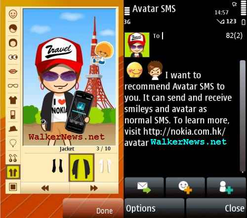 Avatar SMS is Symbian freeware for creating and reading SMS with animated avatar and emoticon.