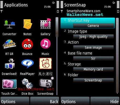 Best ScreenSnap is screen capture freeware for Nokia 5800.