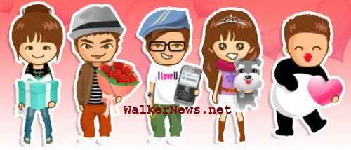 Valentine plugin for Avatar SMS to create animated avatar of Valentine theme.