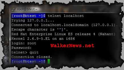 Telnet client - how to exit from telnet login prompt immediately?