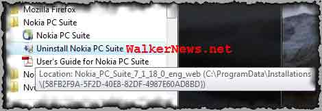 Download Nokia PC Suite Cleaner to completely remove or uninstall Nokia PC Suite.