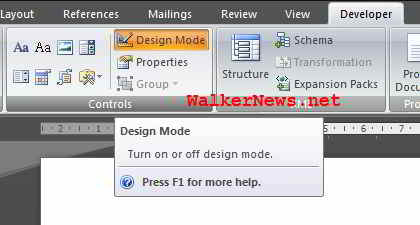 Turn off the Design Mode in Word 2007 in order to preview the playback of SWF file embedded in Word 2007.