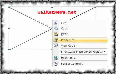 Configure Shockwave flash object embedded in Word 2007
