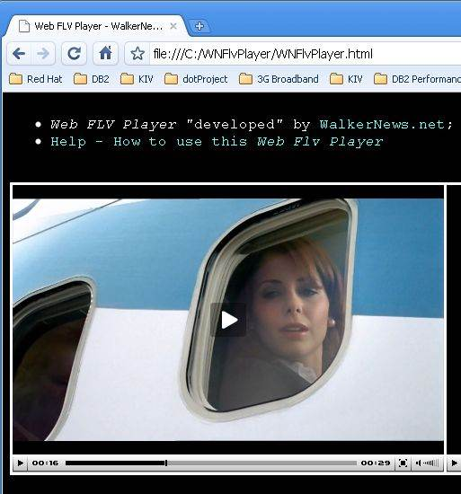 Use Web FLV Player to playback Flash movies stored in local hard disk.