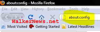 Step to change Firefox user agent string to spoof web server.