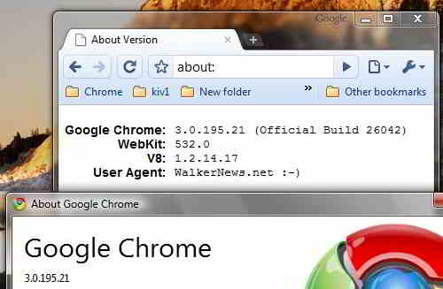 How to change Google Chrome User Agent String?