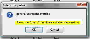 user agent string firefox windows