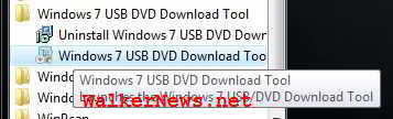 Windows 7 USB DVD Download Tool.