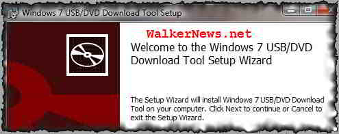 Installing Microsoft official tool to create a bootable Windows 7 USB flash drive.