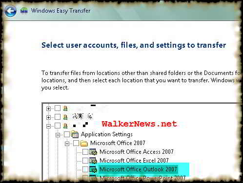 Using Windows Easy Transfer to export or dump Outlook-Exchange account settings and restore it later to another computer.