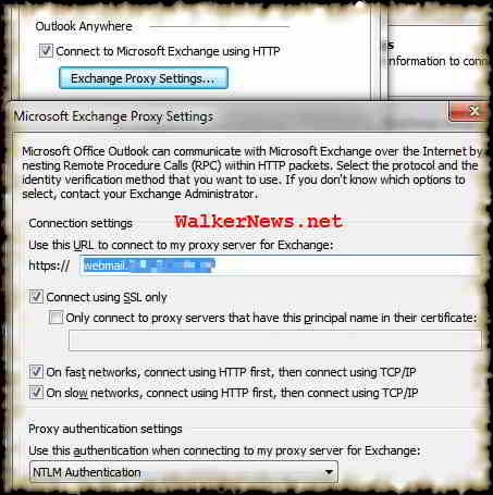 Outlook 2007 access Exchange email over Internet by nesting Remote Procedure Calls or RPC within HTTP packet.