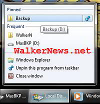 Pin folders to Windows Explorer Jump List at your wish in Windows 7.