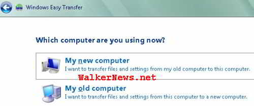 Where should Windows Easy Transfer starts?