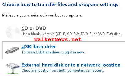 Which storage media should Windows Easy Transfer used to migrate user data?