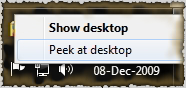 The easier way to disable Aero Peek of Windows 7.