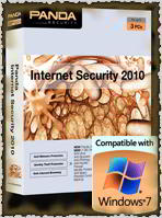 The latest Panda Internet Security 2010 is compatible with Windows 7, both 32-bit and 64-bit edition.