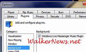 Turn on Windows Live Messenger Music plugin to show music listening.