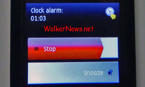 The trick to really stop the Nokia 5800 v40 alarm clock.