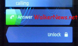 Nokia 5800 v40: To answer incoming call, slide or swipe the Answer trail from left to right
