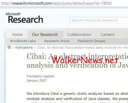 Microsoft Research introduce the Cibai tool to analyze Java classes.