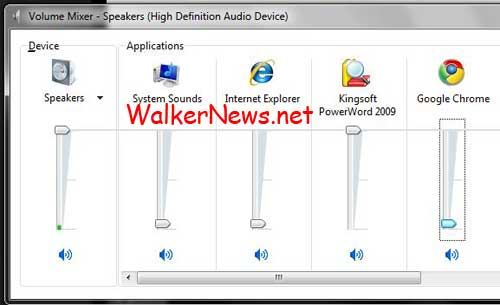 Control volume level of individual applications in Windows 7 helps to lower the Facebook video volume perpetually.