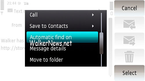 Turn on the SMS Automatic Find feature in Nokia 5800