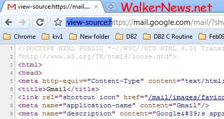 The trick to view page source in Google Chrome when the right click option is disabled.