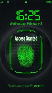S60v5 apps to unlock Nokia touchscreen smart phone with fingerprint.