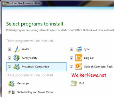 The installer upgrade existing programs the latest beta version 2010.